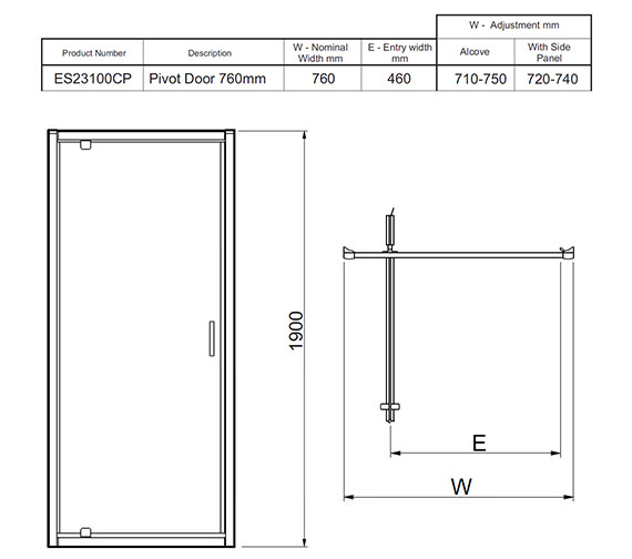 Technical drawing QS-V27467 / ES23100CP