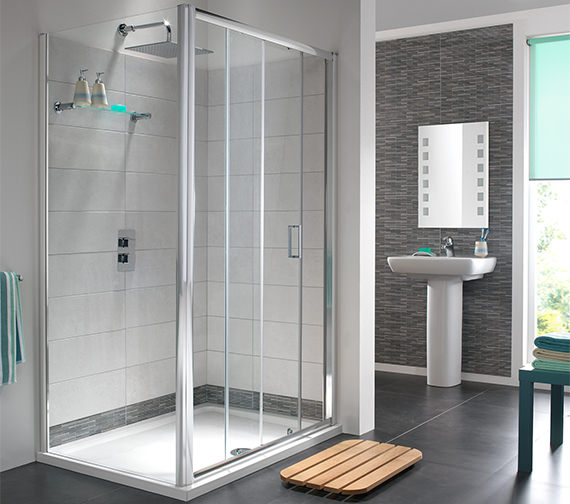 Additional image of Twyford ES200 Sliding Shower Enclosure Door 1000mm - ES26500CP