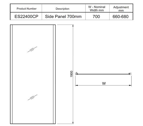 Technical drawing QS-V27473 / ES25400CP