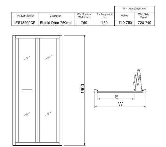 Technical drawing QS-V27477 / ES43200CP
