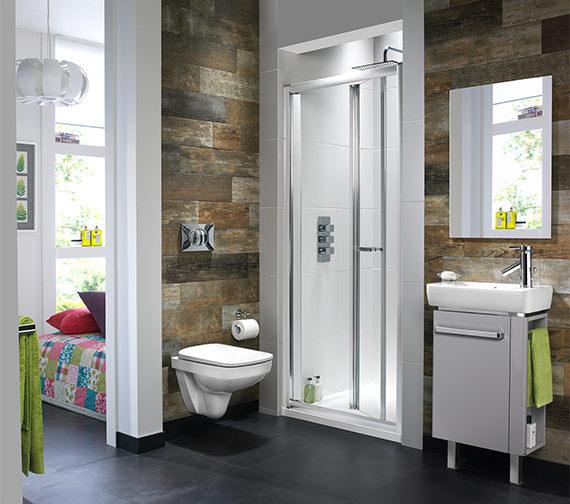Additional image of Twyford ES400 Bi-Fold Shower Enclosure Door 760mm - ES43200CP
