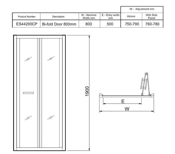 Technical drawing QS-V27478 / ES44200CP