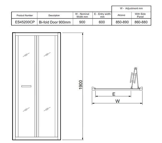 Technical drawing QS-V27479 / ES45200CP