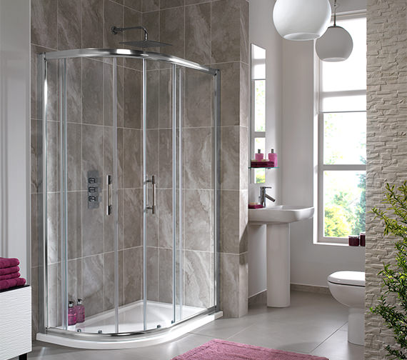Additional image of Twyford ES400 Offset Quadrant Shower Enclosure 1000 x 800mm