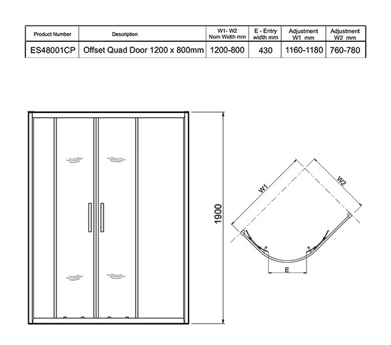 Technical drawing QS-V27481 / ES48001CP