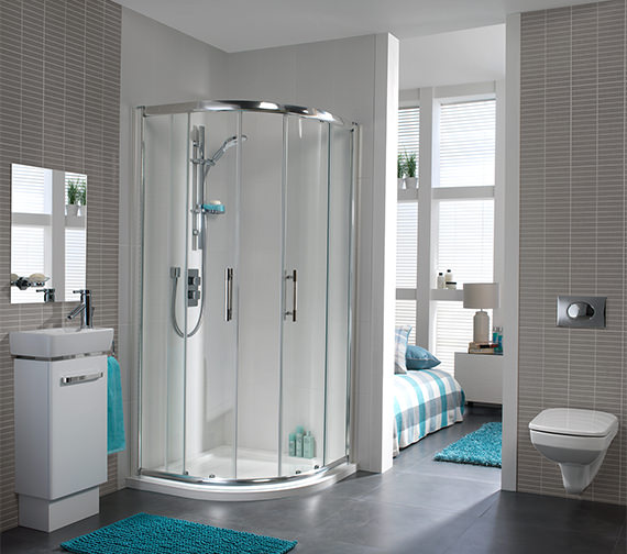 Additional image of Twyford ES400 Quadrant Shower Enclosure 800 x 800mm - ES44700CP