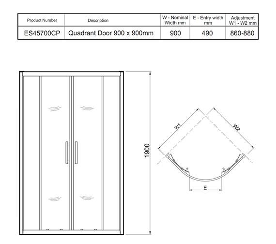 Technical drawing QS-V27484 / ES45700CP