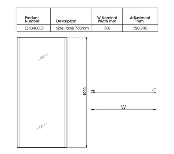 Technical drawing QS-V27485 / ES43400CP