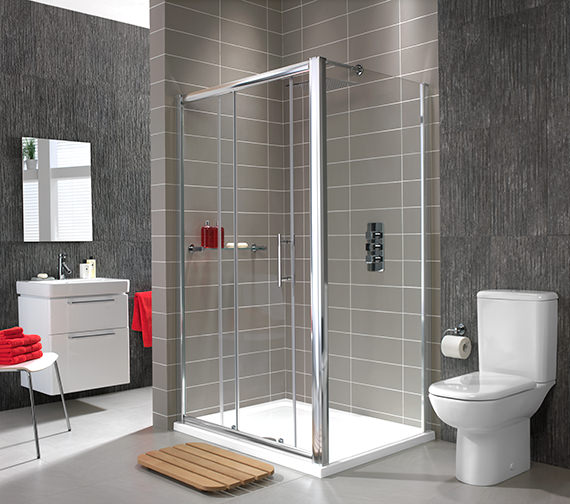 Additional image of Twyford ES400 Sliding Shower Enclosure Door 1700mm - ES40500CP