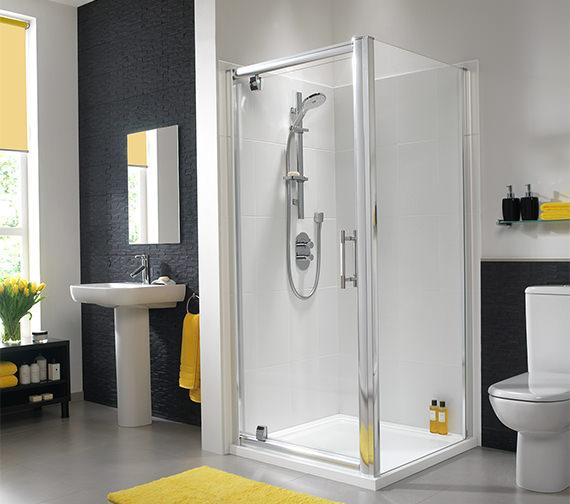 Additional image of Twyford ES400 Shower Enclosure Side Panel 760mm - ES43400CP
