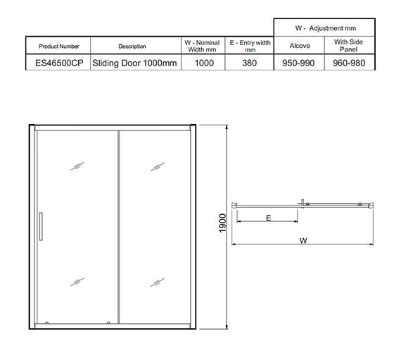 Technical drawing QS-V27488 / ES46500CP