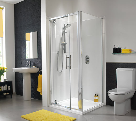 Additional image of Twyford ES400 Pivot Shower Enclosure Door 760mm - ES43100CP