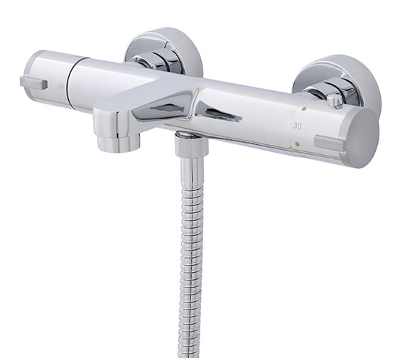 Nuie Premier Wall Mounted Thermostatic Bath Shower Mixer Tap - VBS021
