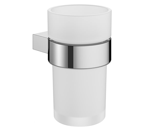Crosswater Mpro Glass Tumbler And Chrome Holder - PRO003C