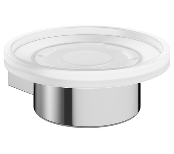 Crosswater Mike Pro Glass Soap Dish And Chrome Holder - PRO005C