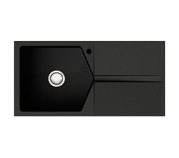 Astracast Razor 1.0 Bowl Composite ROK Metallic Volcano Black Inset Sink