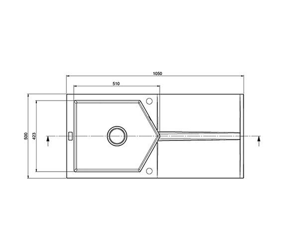 Technical drawing QS-V27614 / SL10RZHOMESK