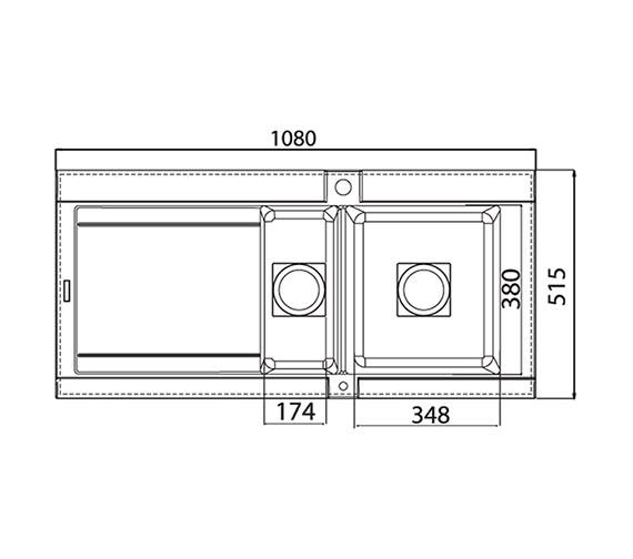 Technical drawing QS-V27621 / GE15RHHOMESKL