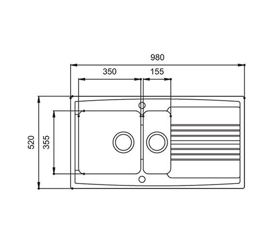 Technical drawing QS-V27644 / EQ15WHHOMESK