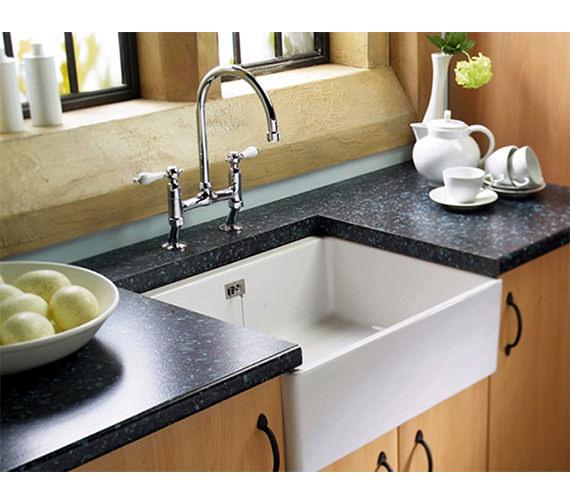 Astracast Sudbury 1.0 Bowl Ceramic Gloss White Sit-In Kitchen Sink ...
