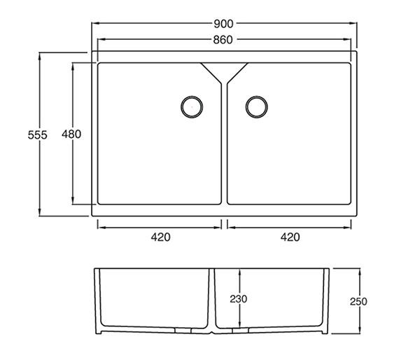Technical drawing QS-V27655 / SU20WHHOMESK