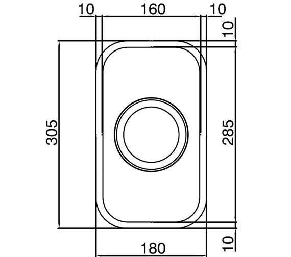 Technical drawing QS-V27656 / EDH1XXHOMESK