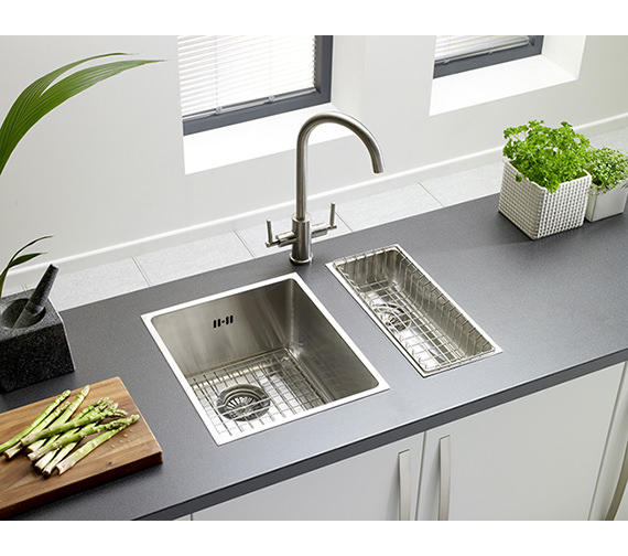 Astracast Onyx 4016 Half Bowl Brushed Stainless Steel Flush Inset Sink