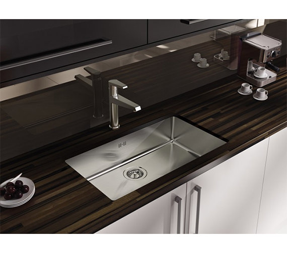 Additional image of Astracast Onyx 4070 Large Bowl Brushed Stainless Steel Flush Inset Sink