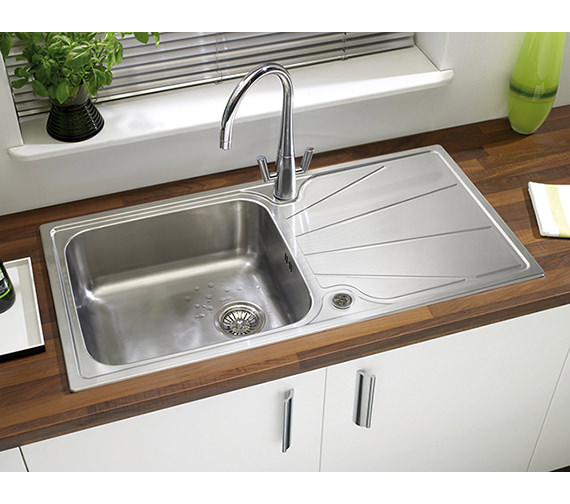 Additional image of Astracast Korona 1.0 Bowl Polished Stainless Steel Inset Sink And Tap Pack