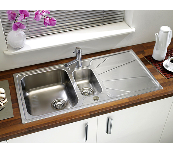 Astracast Korona 1.5 Bowl Polished Stainless Steel Inset Sink And Tap Pack