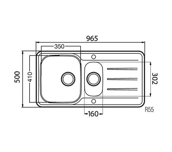 Technical drawing QS-V27692 / TP15XXHOMESK