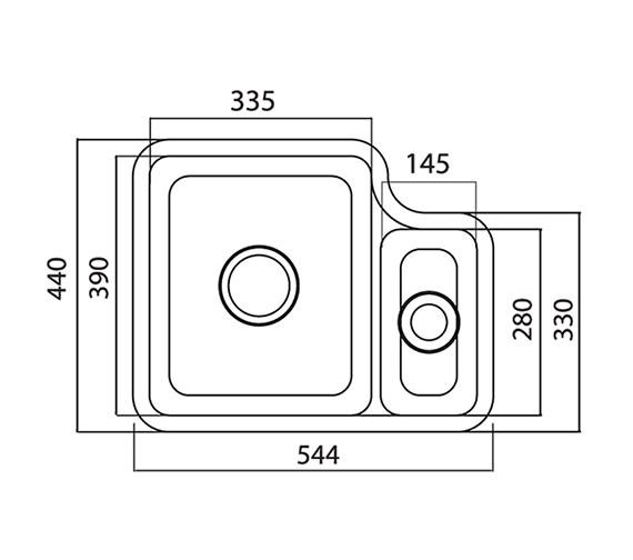Technical drawing QS-V27694 / LN15WHHOMESK