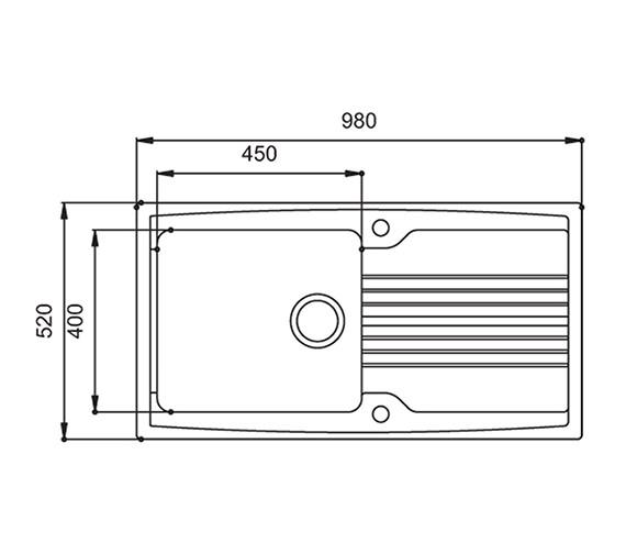 Technical drawing QS-V27695 / EQ10WHHOMESK