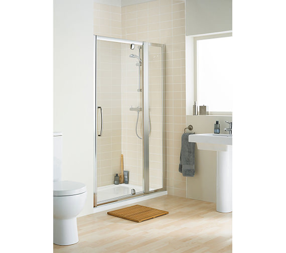 Lakes Classic Clear Glass 350 x 1850mm In-line Panel Pack
