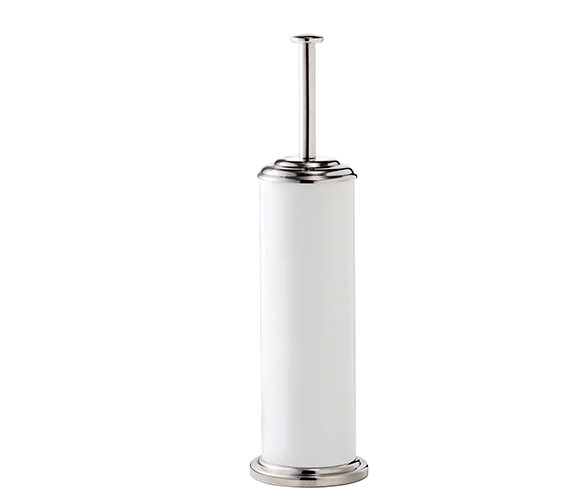 Croydex Essentials White And Stainless Steel Toilet Brush And Holder