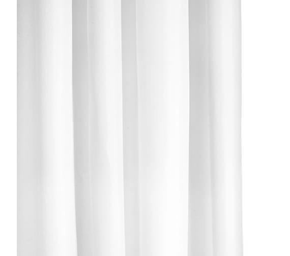 Croydex White Textile Hook Less Shower Curtain - AF289022