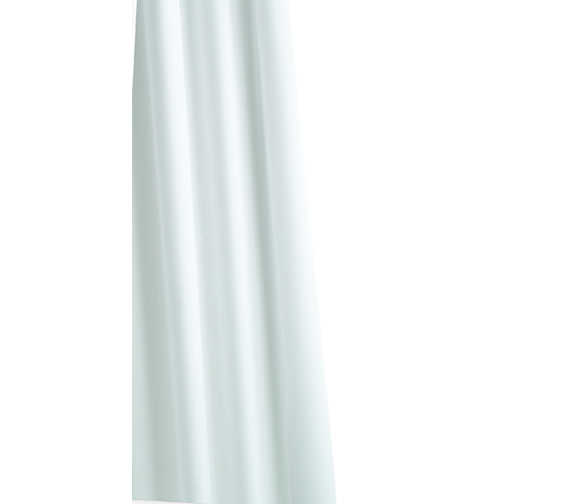 Croydex Special Textile Shower Curtain Above 1800mm White