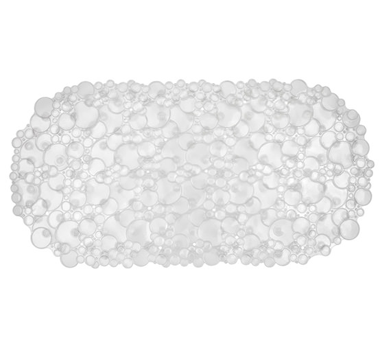 Croydex Bubbles Bath Mat Clear