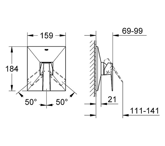 Technical drawing QS-V28383 / 19789000