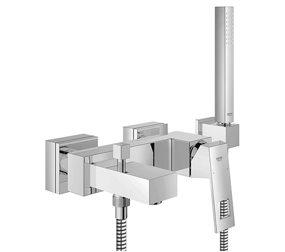 Grohe Eurocube Wall Mounted Single Lever Bath Mixer Tap With Shower Set