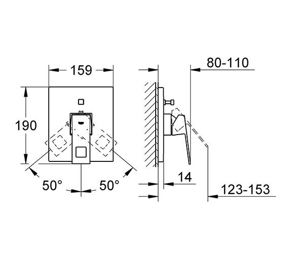 Technical drawing QS-V28443 / 19898000