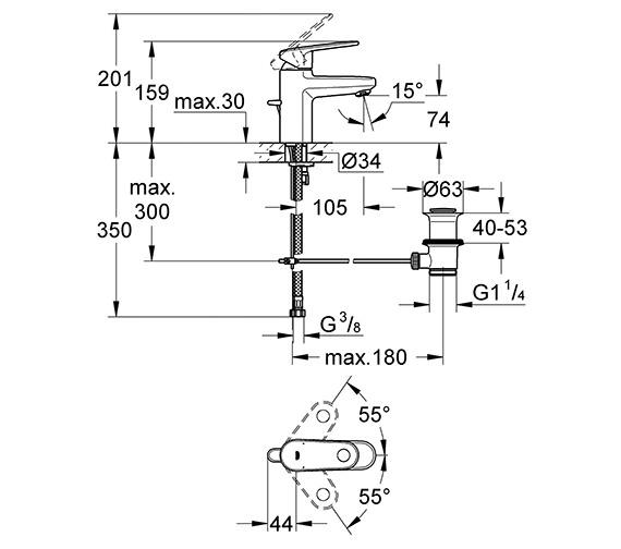Technical drawing QS-V28447 / 32612002