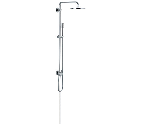 Grohe Rainshower Wall Mounted Shower System With Diverter And Head