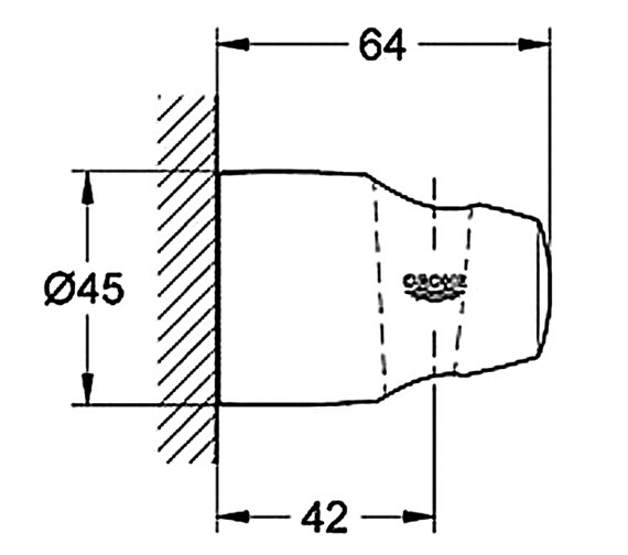 Technical drawing QS-V28512 / 28403000