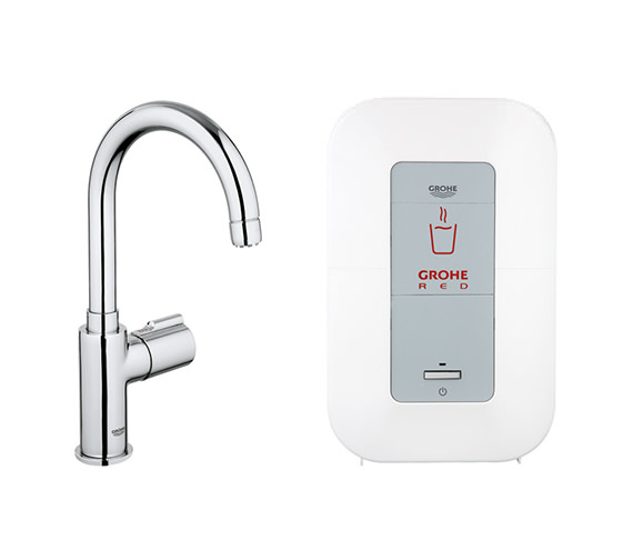 Grohe Red Mono Kitchen Tap And 4 Liters Single Boiler - 30060000