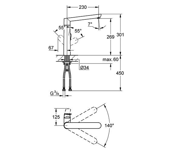 Technical drawing QS-V28593 / 32175000