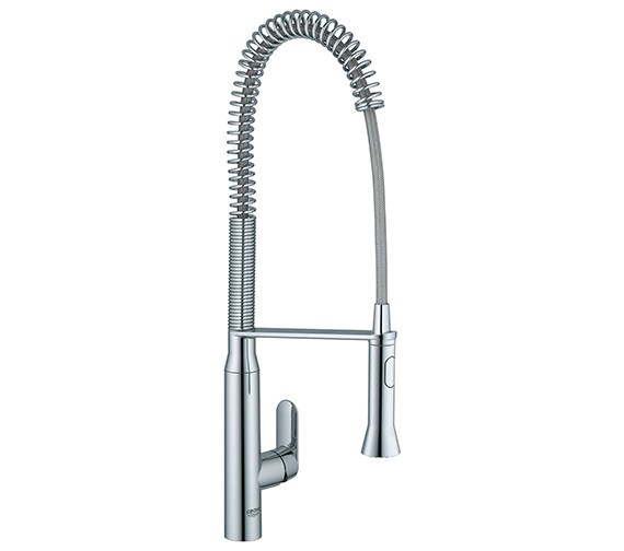 Grohe K7 Mono Kitchen Sink Mixer Tap With Metal Lever