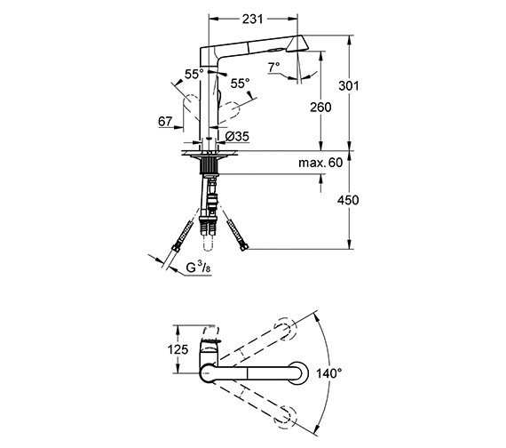 Technical drawing QS-V28600 / 32176000