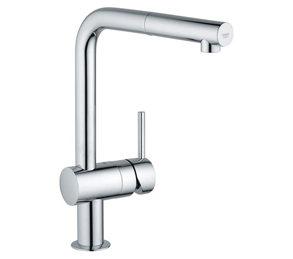 Grohe Minta Monobloc Chrome Kitchen Sink Mixer Tap With Pull Out Spout
