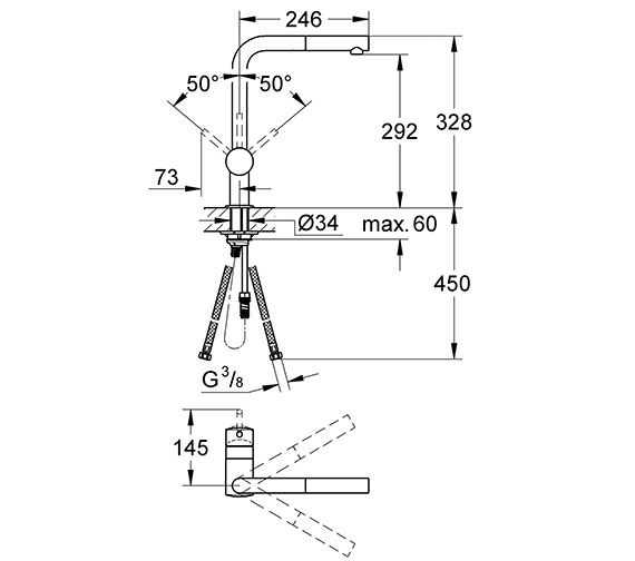 Technical drawing QS-V28608 / 32168000